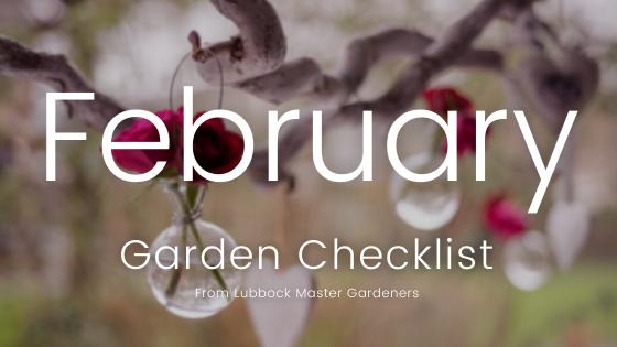 February Garden Checklist